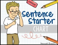 Sentence Starters, A chart with sentence starters perfect for students' writing notebooks.Related:*Personal Narrative Unit*Opinion Writing Unit*How-To Writing Unit*Poetry Writing Unit*Informative Writing Unit...........................................................................................................................*FREE Reading Skills Poster Set for newsletter subscribers SIGN UP NOW*CLICK THE STAR by my name to FOLLOW me!*Visit me on my Blog, my Facebook Page, on Pinterest…