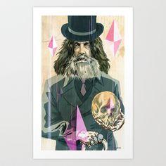 Alan Moore portrait Art Print by Charles Glaubitz - $18.00