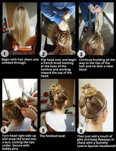 Fun gameday hair-do how-to... topped off with an Axe Sparkle Headband!
