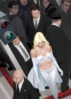 westcoastavengers:  Emma Frost by Clint Cearley