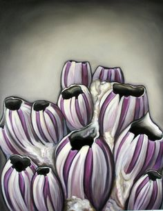 """Bevy Of Barnacles by Carin Vaughn, 16x20"""", original oil on gallery wrapped canvas 