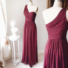 Rapunzel @boudoir1861 - Also in white -  A maxi burgundy dress to look like a princess ! #promdresses  #bridesmaids #Boutique1861
