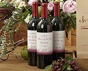 Your vineyard special occasion is sure to be a hit with personalized wine bottle labels from Kate Aspen, available in two designs.