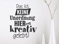 Lustige Wandtattoo Sprüche | witzig & humorvoll | Wandtattoos.de Hand Lettering, Home Decor, Pictures, Creative Walls, Clutter, Life, School, Panel Room Divider, Decoration Home