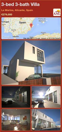 3-bed 3-bath Villa in La Marina, Alicante, Spain ►€279,000 #PropertyForSaleInSpain
