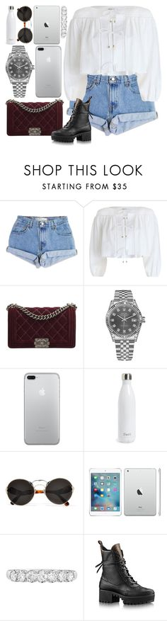 """*2035"" by asoc10 ❤ liked on Polyvore featuring Levi's, Zimmermann, Chanel, Rolex, S'well, Prada, EWA, 19, Work and saturday"