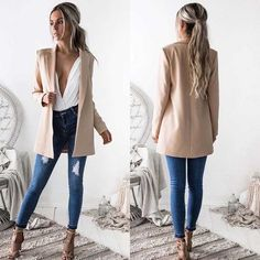 2017 New Fashion Women Blazers Ladies Suit Coat Business Blazer Long Sleeve Jacket Outwear Womens Business Suit Coats  #hirigin #blazers #women_clothing #stylish_blazers #style #fashion