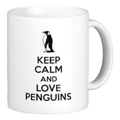 Keep Calm And Love Penguins Mug