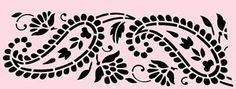 Large Paisley Stencil | PAISLEY-STENCIL-LEAF-LARGE-PAISLEYS-BORDER-TEMPLATE-STENCILS-1-NEW-8-X ...