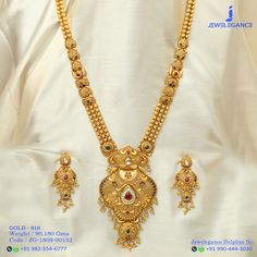 Gold 916 Premium Design Get in touch with us on Gold Mangalsutra Designs, Gold Jewellery Design, Gold Jewelry, Gold Necklaces, Necklace Designs, Indian Jewelry, Wedding Jewelry, Jewelry Collection, Gold Designs