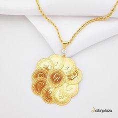 On Çeyrek Altınlı Halat Zincirli Kolye Diamond Earrings, Pendant Necklace, Jewelry, Projects, Jewlery, Jewerly, Schmuck, Jewels, Jewelery