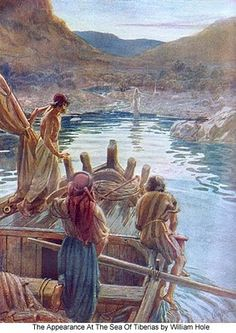 """Jesus on the Shore. BIBLE SCRIPTURE: John 21:4, """"But when the morning was now come, Jesus stood on the shore: but the disciples knew not that it was Jesus."""" - http://access-jesus.com/John/John_21.html"""