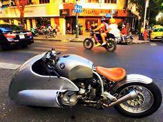 BMW airhead custom with dustbin fairing