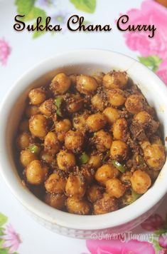 Delicious masala tossed chana curry which is not only easy to make but taste so yummy and spicy. This makes a great sidedish for roti as well. Goan Recipes, Spicy Recipes, Curry Recipes, Veggie Recipes, Indian Food Recipes, Vegetarian Recipes, Cooking Recipes, Channa Recipe, Kitchens
