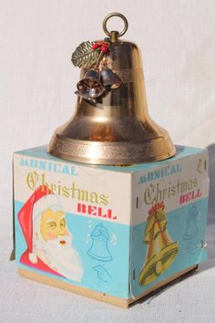 Vintage Gold Bell Ornament Bell Ornaments Vintage Gold Vintage Bell