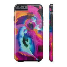 Bright Blue Black Cheetah Phone Case
