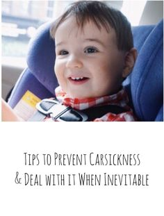 Tips for preventing car sickness and motion sickness in children and how to clean it up (without damaging your car seat) when vomit is inevitable.  These tips also work for morning sickness and nausea in pregnancy!