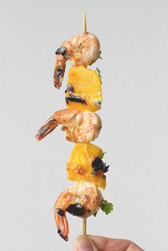 Grilled Shrimp Mango Skewers