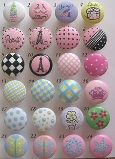 Childrens Drawer Knobs Nursery Cabinet Pulls - You choose the design/s