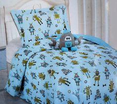 Robot Design TWIN Comforter Set with Sham and Robot Decorative Plush Pillow Twin Comforter Sets, Kids Bedding Sets, Robot Bedroom, Pillow Shams, Plush Pillow, Robots For Kids, New Beds, Decorative Pillows, Comforters