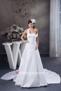 Beautiful Appliqued Watteau Train Off-the-Shoulder Wedding Dress - Shop Online for Wedding Dresses at Low Prices