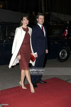 Crown Prince Frederik and Crown Princess Mary of Denmark arrive to the Icelandic President's Return Arrangement at Nordatlantens Brygge on January 25, 2017 in Copenhagen, Denmark. The Icelandic President couple ends a two days State visit to Denmark and their Return Arrangement takes place following yesterdays January 24th State Banquet hosted by Queen Margrethe of Denmark at Amalienborg.