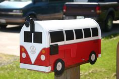 Volkswagen Bus Mailbox by TheBusBox..too funny! Hubby would love this :)