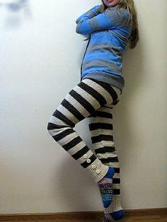 Crochet Pants, Knit Pants, Leggings Are Not Pants, Knitting Stitches, Mittens, Lana, Ravelry, Socks, Stripes