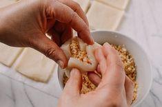 Coconut Peanut Mochi (Nuo Mi Ci - 糯米糍) - The Woks of Life Rice Desserts, Gourmet Desserts, Just Desserts, Dessert Recipes, Plated Desserts, Filipino Desserts, Asian Desserts, Japanese Desserts, Filipino Food