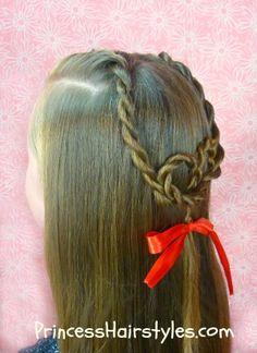 Sweetheart braid tutorial  #Valentine's Day