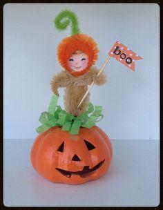 LIL pumpkin Girl: A Halloween Ornament Halloween by JeanKnee