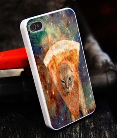 pizza cat galaxy nebula Art iPhone 5S caseiphone 5 by tigerredcase, $14.97