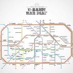 I miss Berlin like crazy.   Berlin U-Bahn Bar Map - die besten Bars in 5 Gehminuten von jeder Bahnstation aus