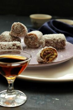 lamington mini roll cakes with chocolate cream by Nina Gabelica