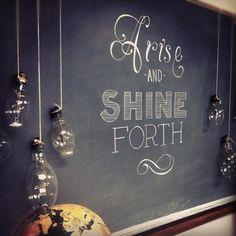 chalk lettering by Angela Hardison