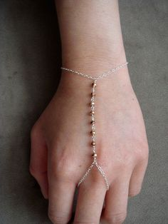 Hand jewelry by Dapht on Etsy  .... I should make something like this with amythyst