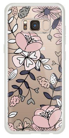 Casetify iPhone 7 Plus Classic Grip Case - Blush Floral by Megan Roy