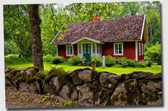 images of swedish red cottages | red cottage