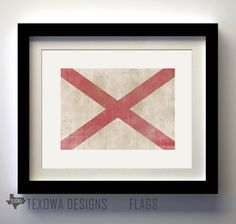Alabama Flag Print. $17.00, via Etsy.
