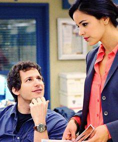 """I kinda wish something could happen between us. Romantic Stylez."" Brooklyn 99 / Jake & Amy"