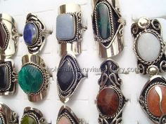 Semi-Precious Stone Rings. Click the link to purchase our unique handmade Peruvian jewelry at awesome wholesale prices (includes shipping & insurance!)  Make money with your own online or offline business selling Peruvian Jewelry or save big on beautiful gifts for yourself or that special someone! Click here:  http://www.wholesaleperuvianjewelry.com/