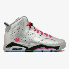 eb5a2840fb447c Nike Air Jordan 6 Retro Valentine s Day Silver Shoes Sneakers 6.5Y Womens 8   fashion