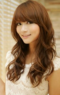 i will try to rock this in the future..Long Hairstyle, layered with bangs.  Light Copper Brown.