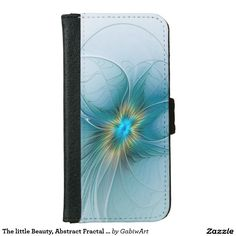 The little Beauty, Abstract Fractal Art with blue iPhone 6/6s Wallet Case