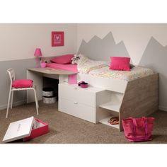 Das Hochbett MILKY A Punktet Mit Funktionalität Und Erstklassiger Qualität.  Die Ablage Neben Der Liegefläche Lässt Sich Wunderbar Als Schreibtisch  Nutzen.