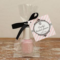 24 Mini Cellophane Favor Bags - Chanel Inspired Tag - Bridal Shower Favor Bag // Party Favor Bags // Baby Shower Favor Bags on Etsy, $33.60                                                                                                                                                                                 More