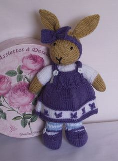 Hand knitted bunny rabbit by bythemill on Etsy