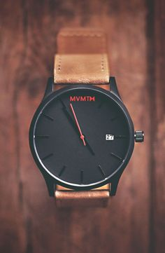 Black/Tan Leather x MVMT Watches Click the image to purchase