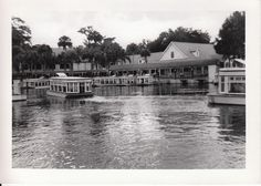 Glass-bottomed boats near Ocala, Florida in 1952. Silver Springs is still a popular destination for vintage tourism.