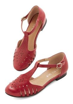Chic to the Next Level Flat in Red #Chelsea Crew